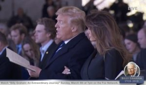 President Trump, First Lady Singing Hymn at Graham Funeral