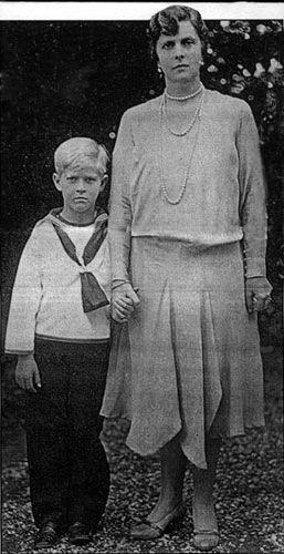 Prince Philip with his Mother, Princess Alice of Greece (Photo courtesy of Yad Vashem)