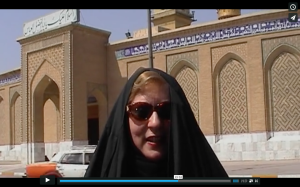 Christine Darg on a mission in Iraq, part of Biblical Assyria
