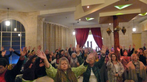 A scene from one of our many prayer convocations in Israel